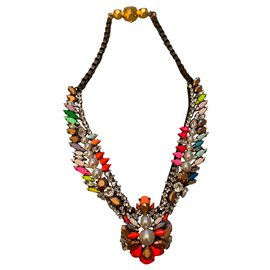 Shourouk-New shourouk necklace in pearls and multicolored rhinestones.-Multiple colors