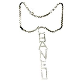 Chanel-Chanel collier dorè AVEC Swarovski-Golden
