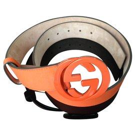 Gucci-Beautiful Gucci belt-Orange