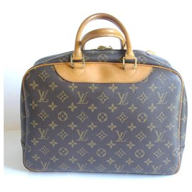 Louis Vuitton-Bowling vanity Deauville-Light brown
