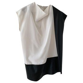 Céline-New black and white Céline top-Black,White