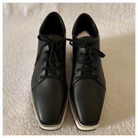 Stella Mc Cartney-Baskets noires à plateforme Elyse-Noir