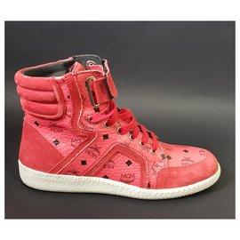 MCM-sneakers-Noir,Rouge
