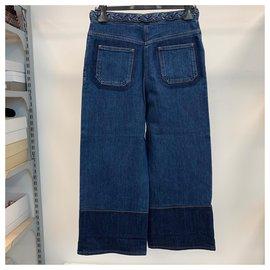 Valentino-Rétro et jean large-Bleu
