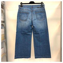 Stella Mc Cartney-Jeans large au look vintage-Bleu