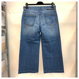 Stella Mc Cartney-Vintage look wide denim jeans-Blue