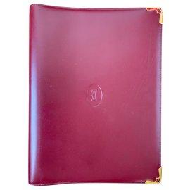 Cartier-Purses, wallets, cases-Dark red