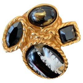 Yves Saint Laurent-Rings-Black,Golden