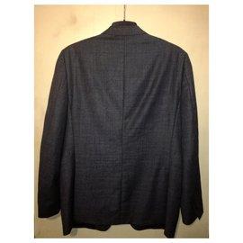 Ermenegildo Zegna-Z Zegna Drop 7 Black Label Suit Jacket-Grey