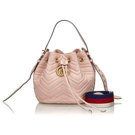 Gucci-Gucci Pink Marmont Petit Sac Seau-Rose
