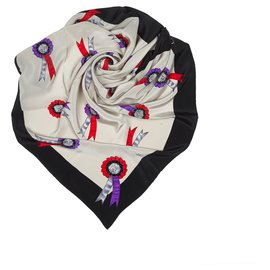 Dior-Dior Gray Printed Silk Scarf-Multiple colors,Other,Grey