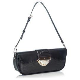 Louis Vuitton-Pochette Epi Black Montaigne Louis Vuitton-Noir