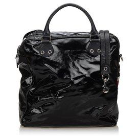 Gucci-Sac Boston en toile enduite noir Gucci-Noir