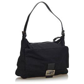 Fendi-Fendi Black Mamma Shoulder Bag-Black