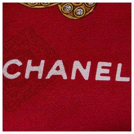Chanel-Foulard en soie imprimée Chanel Red Gem-Rouge,Multicolore