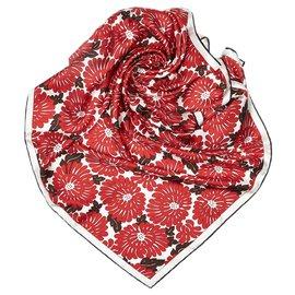 Fendi-Fendi Red Printed Silk Scarf-Red,Multiple colors