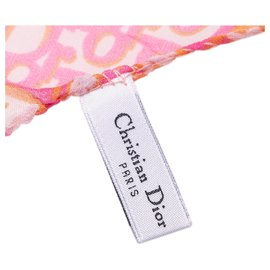 Dior-Dior Pink Diorissimo Silk Scarf-Pink