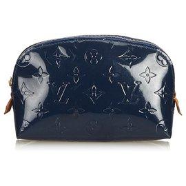 Louis Vuitton-Louis Vuitton Black Vernis Cosmetic Pouch-Black