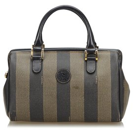Fendi-Sac Fendi Mini Boston Boston noir-Marron,Noir