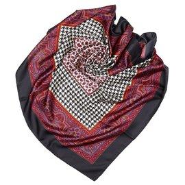 Dior-Dior Black Printed Silk Scarf-Black,Multiple colors
