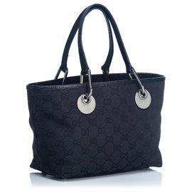 Gucci-Gucci Black GG Jacquard Eclipse Tote Bag-Black