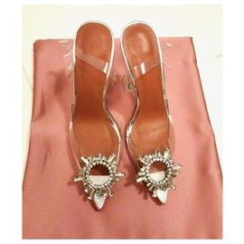 Amina Muaddi-Amina Muaddi crystal slingback heels EU36-Other