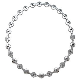 """Cartier-Cartier necklace """"Himalia"""" model in white gold, diamants.-Other"""