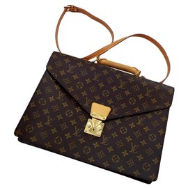 Louis Vuitton-Briefcase-Brown