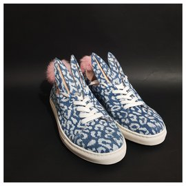 Minna Parrika-sneakers-Bleu,Multicolore