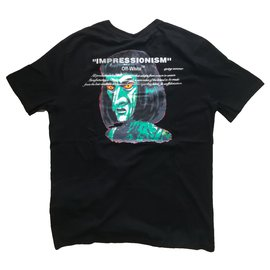 Off White-T-shirt Off-White Green man-Noir