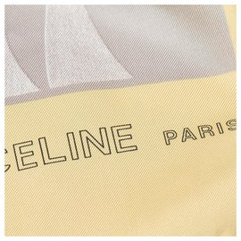 Céline-Celine Yellow Printed Silk Scarf-Multiple colors,Yellow