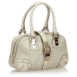 Gucci-Sac à main en cuir blanc Horsebit Gucci-Blanc