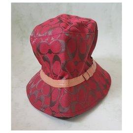 Coach-Hats-Multiple colors,Coral