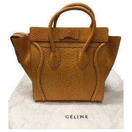 Céline-Luggage Boston-Yellow