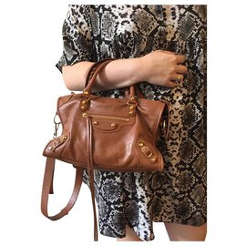Balenciaga-Balenciaga City bag-Brown,Light brown,Caramel