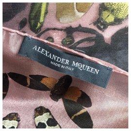 Alexander Mcqueen-alexander mcqueen  foulard edition limite-Rose
