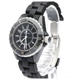 Chanel-Chanel black Ceramic J12 Quartz H0681-Black