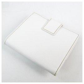 Gucci-Gucci White Vintage Gucci Web Wallet-White,Multiple colors