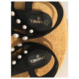 Chanel-Sandals-Black,White