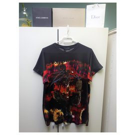 Balmain-Tee-shirt palmier de la marque Balmain-Multicolore