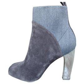 Dries Van Noten-Ankle Boots-Grey