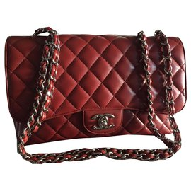 Chanel-2.55 Jumbo-Dark red
