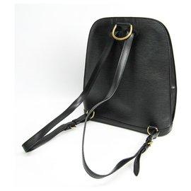 Louis Vuitton-Louis Vuitton Black Epi Gobelins-Noir