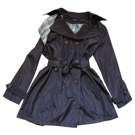 inconnue-Trench coats-Dark brown