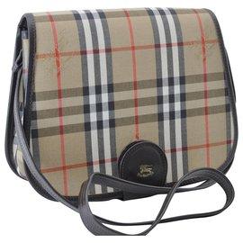 Burberry-Burberry Nova Check Shoulder Bag-Brown