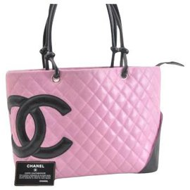 Chanel-Chanel Cambon Tote Bag-Pink