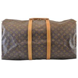 Louis Vuitton-Louis Vuitton Keepall 55-Marron