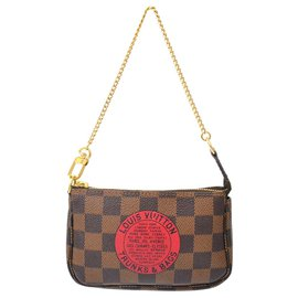 Louis Vuitton-Accessoires Mini Pochette Louis Vuitton-Marron