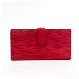 Louis Vuitton-Louis Vuitton Red Epi Continental Viennois-Red