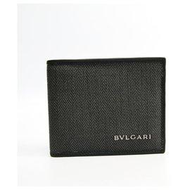 Bulgari-Bvlgari Black Weekend Bifold Wallet-Black